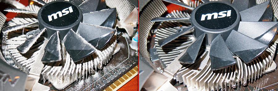 Чистка вентилятора (кулера) видеокарты, фото